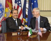 Lorenzo Forcieri, dopo la firma del MOU del JSF
